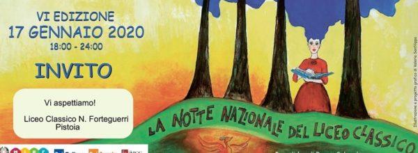 Locandina Notte Nazionale  del Liceo Classico – 17 gennaio 2020
